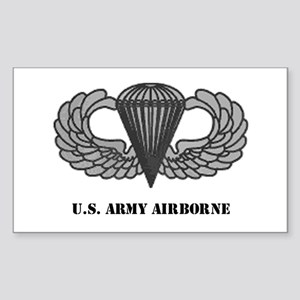 Basic Airborne Wings Rectangle Sticker