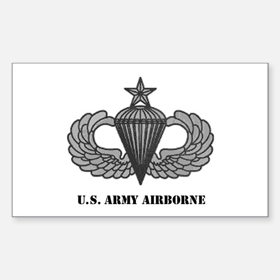 Senior Airborne Wings Rectangle Decal