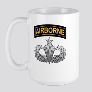 Senior Airborne Wings with Ai Large Mug