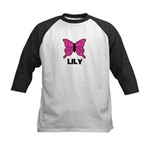 Butterfly - Lily Kids Baseball Jersey