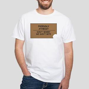 Friendly Atheist White T-Shirt