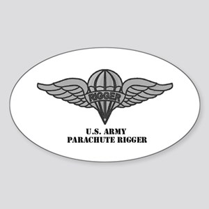 Rigger Wings Oval Sticker