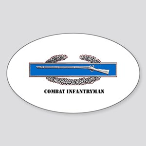 Combat Infantryman's Badge Oval Sticker