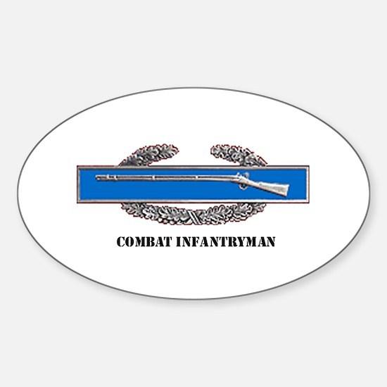 Combat Infantryman's Badge Oval Decal