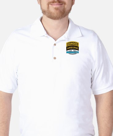 CIB with Ranger/Airborne Tab Golf Shirt