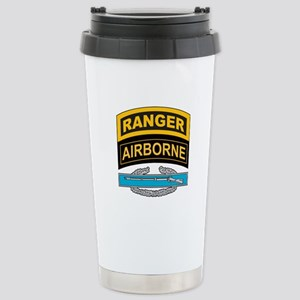 CIB with Ranger/Airborne Tab Stainless Steel Trave