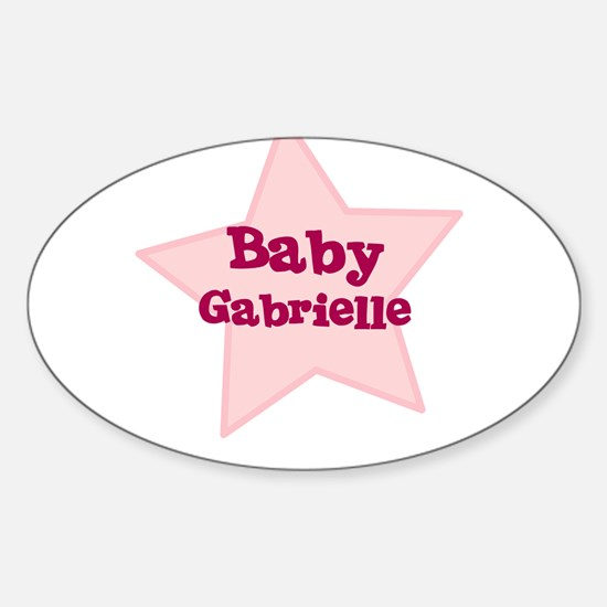 Baby Gabrielle Oval Decal