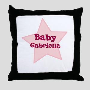Baby Gabriella Throw Pillow