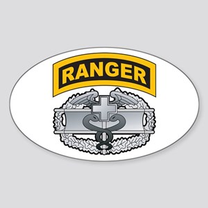 Combat Medic Badge with Range Oval Sticker