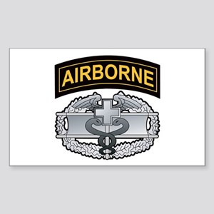 Combat Medic Badge with Airbo Rectangle Sticker