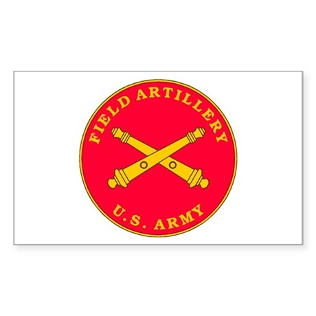 Field Artillery Plaque Rectangle Sticker