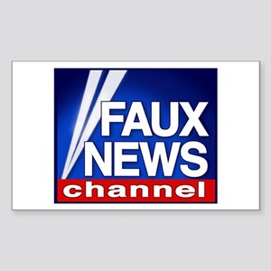 Faux News - On a Rectangle Sticker