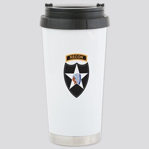 2nd Infantry Div with Recon T Stainless Steel Trav