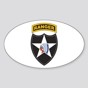 2nd Infantry Div with Ranger Oval Sticker