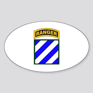3rd Infantry Div Ranger Tab Oval Sticker