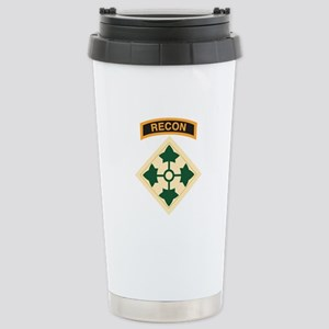 4th Infantry Div with Recon T Stainless Steel Trav