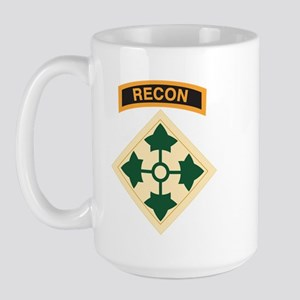 4th Infantry Div with Recon T Large Mug