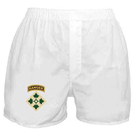 4th Infantry Div with Ranger Boxer Shorts