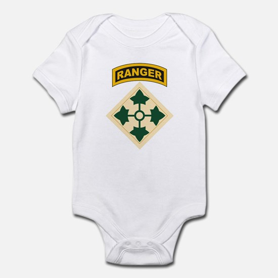 4th Infantry Div with Ranger Infant Bodysuit