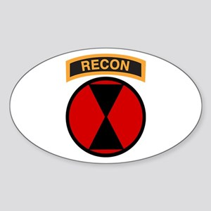 7th Infantry Div with Recon T Oval Sticker