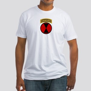 7th Infantry Div with Ranger Fitted T-Shirt