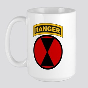 7th Infantry Div with Ranger Large Mug