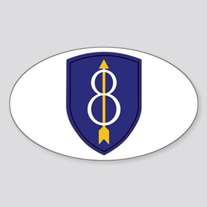8th Infantry Division Oval Sticker