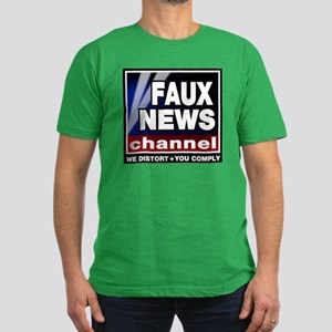 Faux News - On a Men's Fitted T-Shirt (dark)
