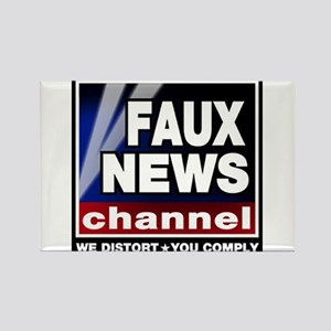 Faux News - On a Rectangle Magnet