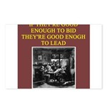 duplicate bridge player gifts Postcards (Package o