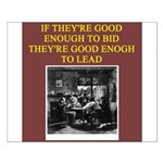 duplicate bridge player gifts Small Poster