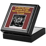 duplicate bridge player gifts Keepsake Box