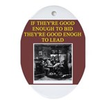duplicate bridge player gifts Oval Ornament