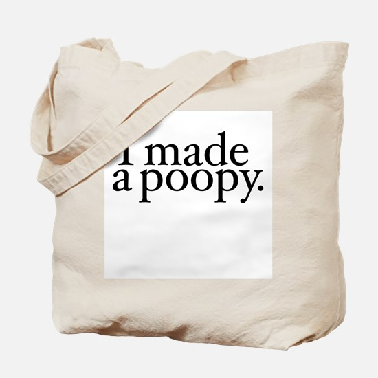 I made a poopy Tote Bag