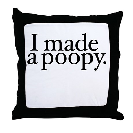I made a poopy Throw Pillow