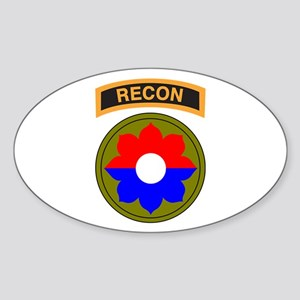 9th Infantry Div with Recon T Oval Sticker