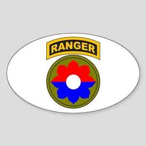 9th Infantry Div with Ranger Oval Sticker