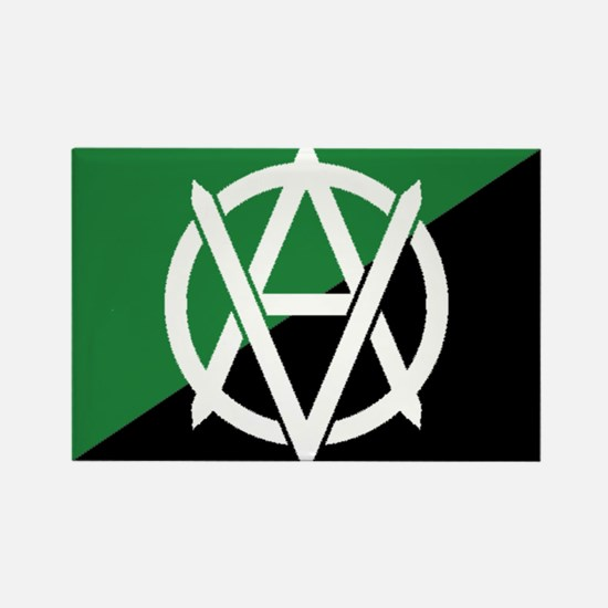 Green_Veganarchy_flag_1_large Magnets