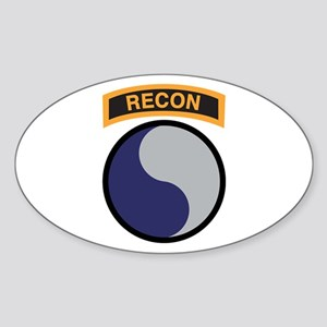 29th Infantry Div with Recon Oval Sticker