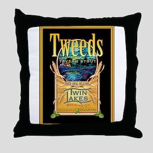 Twin Lakes Tweed's Tavern Stout Throw Pillow