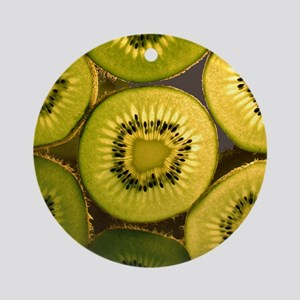 Kiwi Slices Ornament (Round)