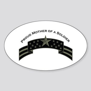 Proud Mother of a Soldier, Oval Sticker