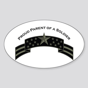 Proud Parent of a Soldier Oval Sticker