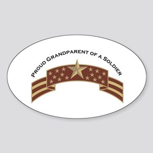 Proud Grandparent of a Soldier Oval Sticker