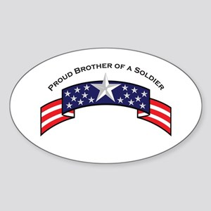 Proud Brother of a Soldier, S Oval Sticker