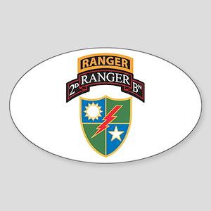 2nd Ranger Bn with Ranger Tab Oval Sticker
