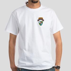 2nd Ranger Bn with Ranger Tab White T-Shirt