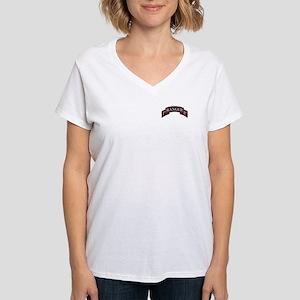 1st Ranger BN Scroll Women's V-Neck T-Shirt