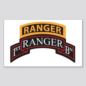 1st Ranger BN Scroll with Ran Rectangle Sticker