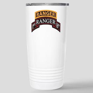 1st Ranger BN Scroll with Ran Stainless Steel Trav